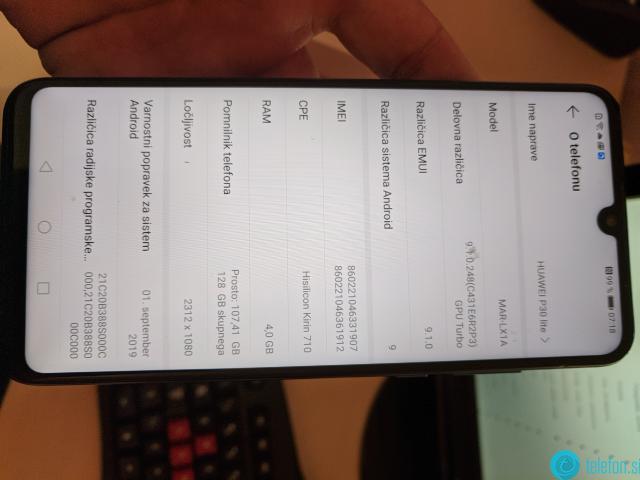 HUAWEI  P30 lite Dual SIM 4GB+128GB (Mar-LX1A)